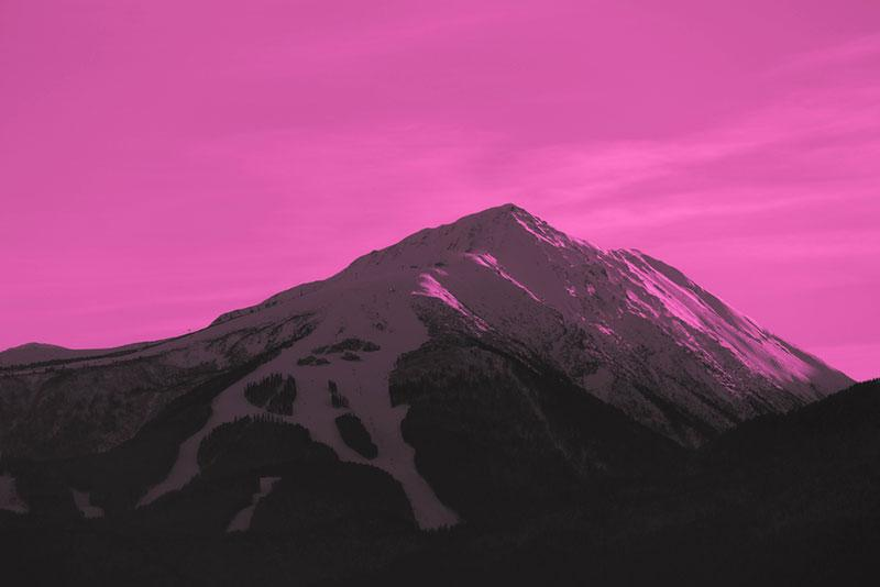 trendy images - mountain peak with surreal sky