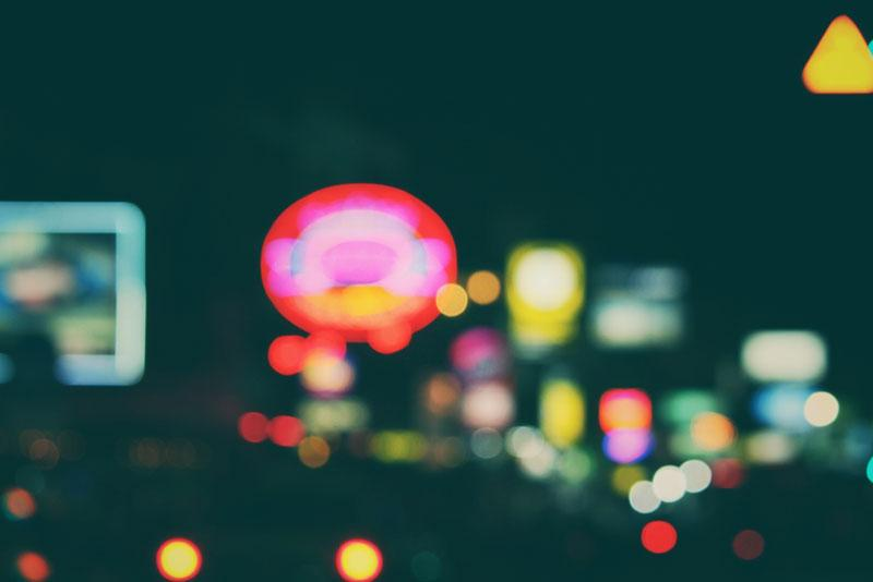 trendy effecets - bokeh on cityscape