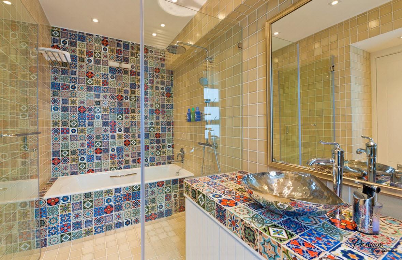 Плитка пэчворк в ванной фото: 50+ фото плитки в стиле пэчворк для ванной – варианты дизайна плитки в интерьере ванной комнаты. Как правильно ее выбрать? — Inside — дизайнерская мебель и освещение