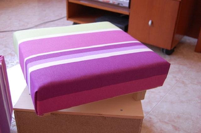 обивка крышки тканью