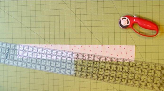 разделение ткани по диагонали