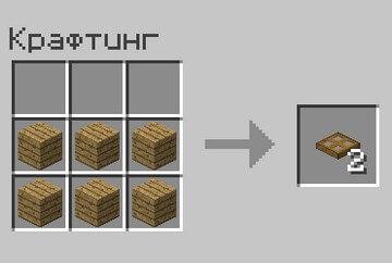 Крафт люка в Minecraft