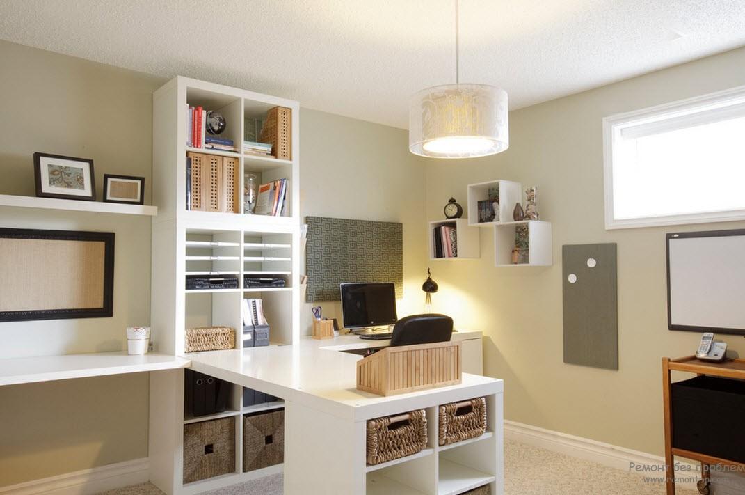 Красивая мебель белого цвета