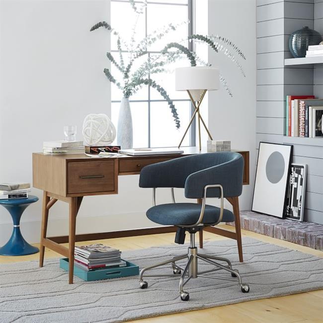 Синий мягкий стул