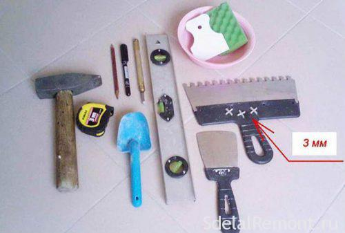Tools for tile