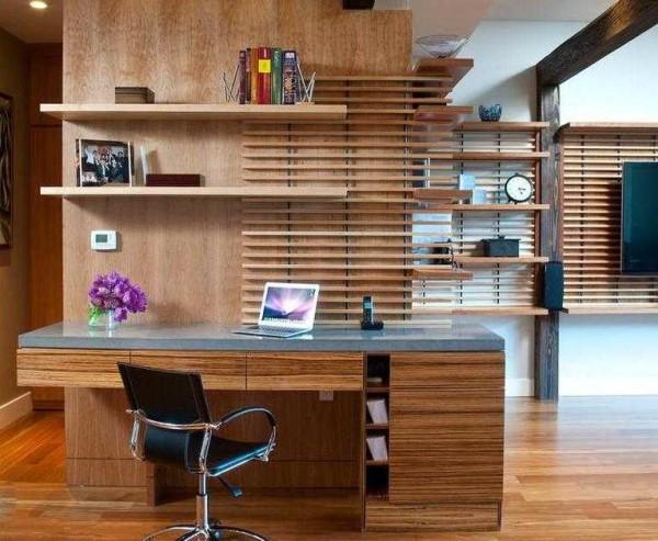 Пример расстановки мебели в кабинете в квартире