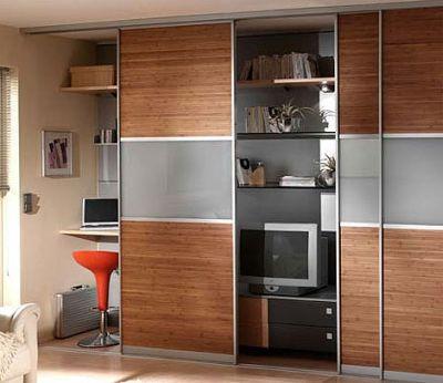 Домашний кабинет в шкафу