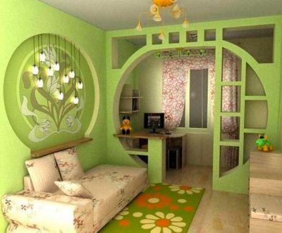 Домашний кабинет в нише однокомнатной квартиры