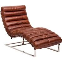 Шезлонг Oviedo Leather Lounge Vintage Cigar