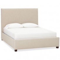 Кровать Raleigh Upholstered Nailhead Square Tall Bed & Headboard