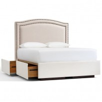 Кровать Tamsen Curved Upholstered Storage Platform
